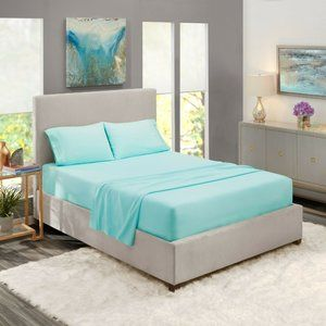 Light Blue Egyptian Comfort Bed Sheets 4 Piece!
